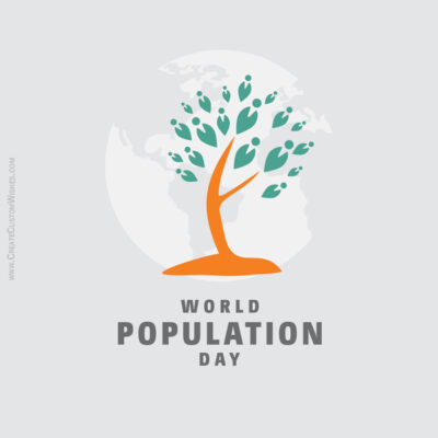 Add Name on World Population Day Pic