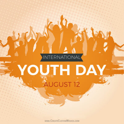 Add Name on Happy Youth Day Image