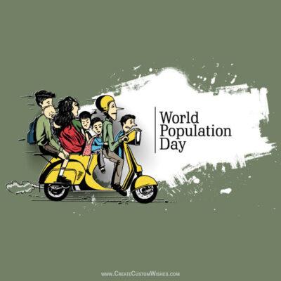 Customized World Population Day Image