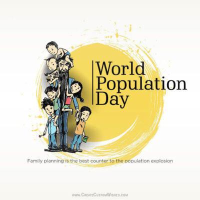 World Population Day Image with Name