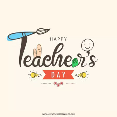 Add Name & Photo on Teachers Day Image