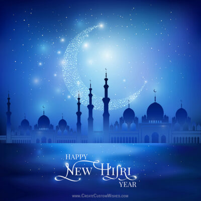 Create Custom New Hijri Year Wishes Image