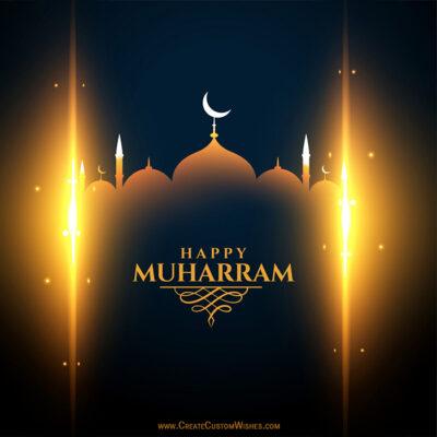 Editable Happy Muharram 2021 Wishes Image