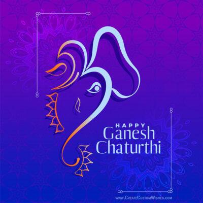 Ganesh Chaturthi 2021 Greeting Image Maker