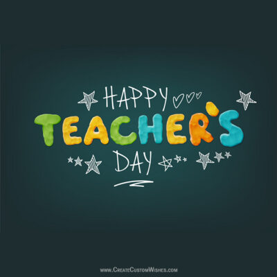 Online Editable Teachers Day eCard FREE!