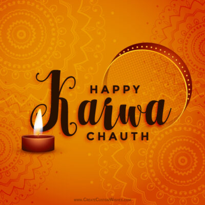 Add Name & Photo on Karwa Chauth 2020 Card