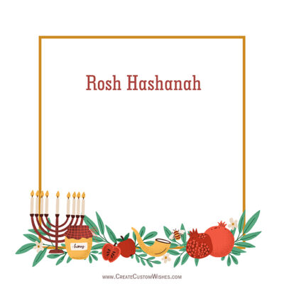 Add Name & Photo on Rosh Hashanah Image