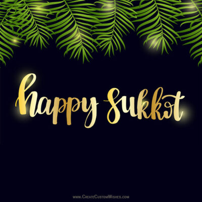 Add Name & Photos on Happy Sukkot Pics