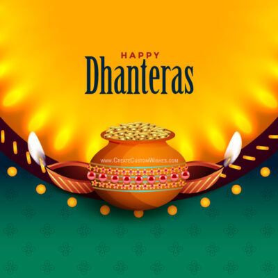 Add Name & Logo on Dhanteras Greeting Card