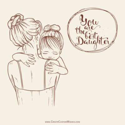 Add Name on Daughters Day Wishes Image