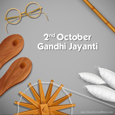 Add Name on Gandhi Jayanti Wishes Image
