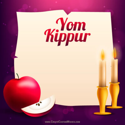 Add Name on Yom Kippur Wishes Image