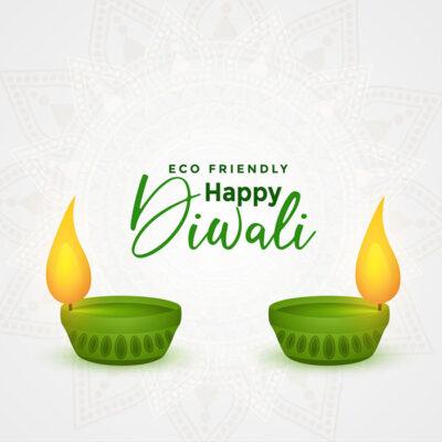 Create Eco-Friendly Diwali Greeting Image