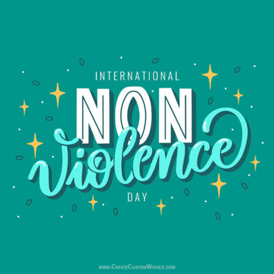 Create International Day of Non Violence Image