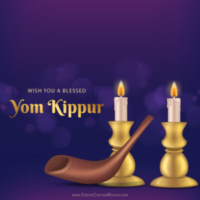 Create Yom Kippur with Name Online
