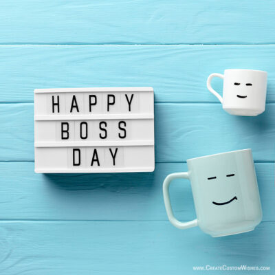 Create a Boss Day Image with Name