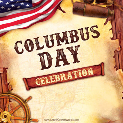 Create a Columbus Day Greeting Card