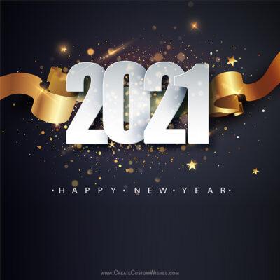Customizable Happy New Year Greeting Design