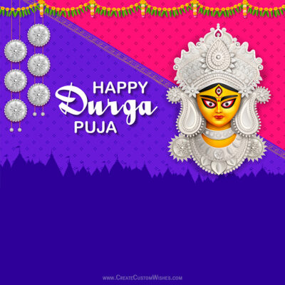 Customize Durga Puja Greeting Card