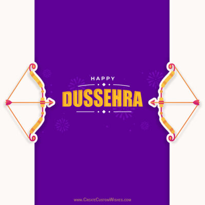 Customize Dussehra Greeting Card Online
