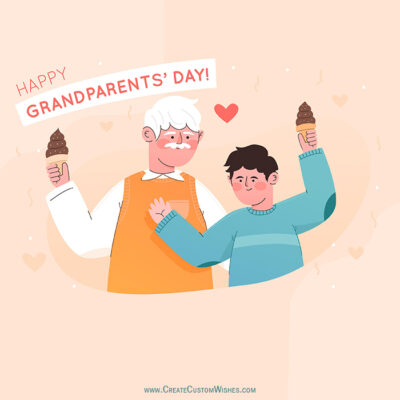 Customize Grandparents Day Wishes Pic