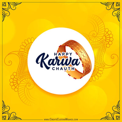 Customize Karwa Chauth Greeting Card