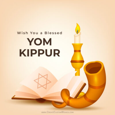 Customize Yom Kippur Greeting Cards