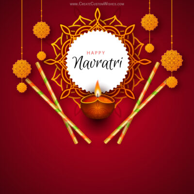 Edit Happy Navratri Greeting Cards