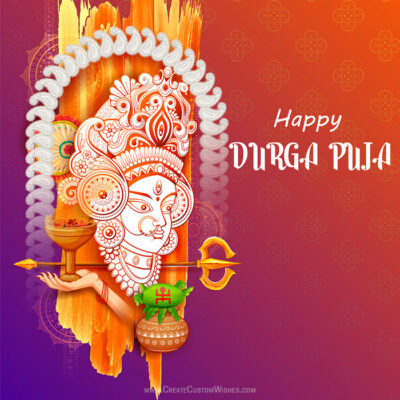 Editable Durga Puja Wishes Image