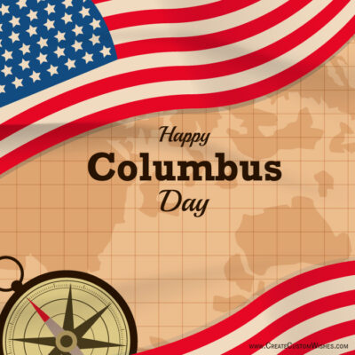 Editable Happy Columbus Day 2021 Cards