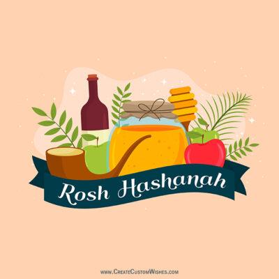Editable Rosh Hashanah Greeting Card