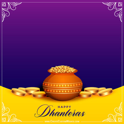 Editable Shubh Dhanteras Wishes Image
