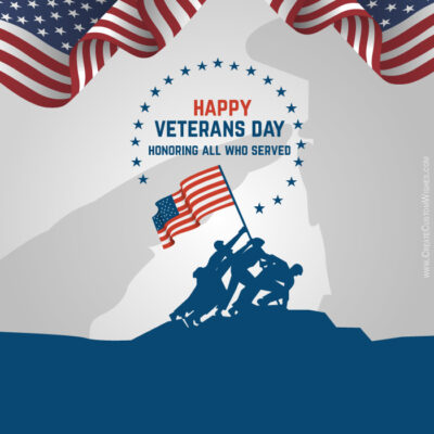 Editable Veterans Day Image with Text