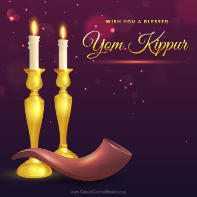 Editable Yom Kippur Wishes Cards