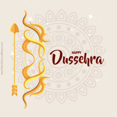 Free Personalize Dussehra Wishes Image