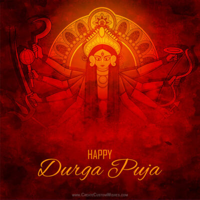 Greeting Card for Happy Durga Puja