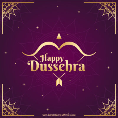 Happy Dussehra with Name & Photos