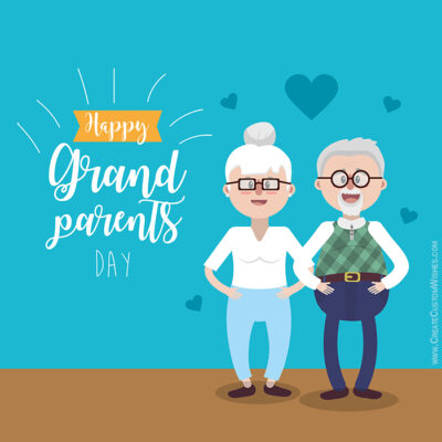 Happy Grandparents Day with Name