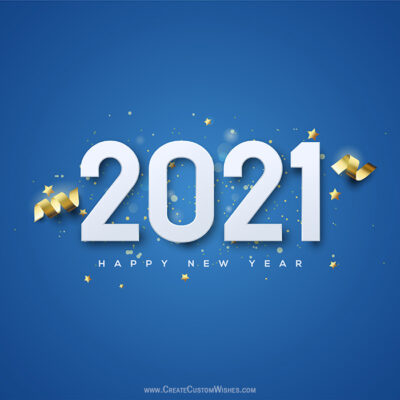 Happy New Year 2021 Image with Name FREE