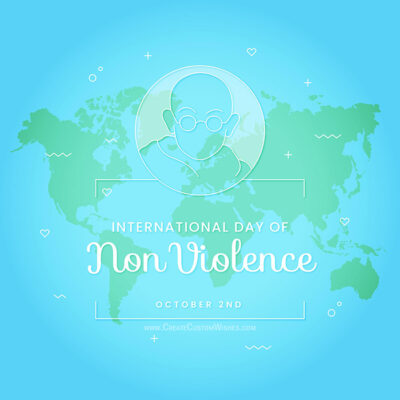 Make International Day of Non Violence Cards