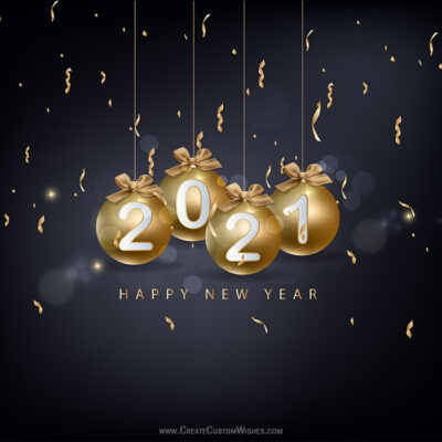 Happy New Year Image with Name (DIY)