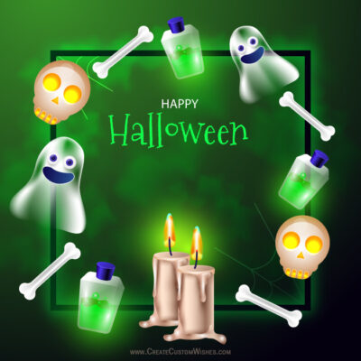 Online Edit Happy Halloween 2021 Wishes