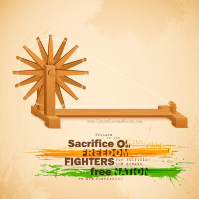 Personalize Gandhi Jayanti Greeting Card