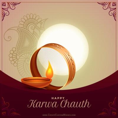 Personalize Karwa Chauth Wishes Image