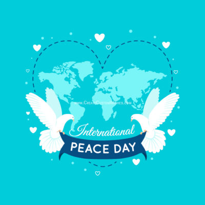 Personalize Peace Day Greeting Card