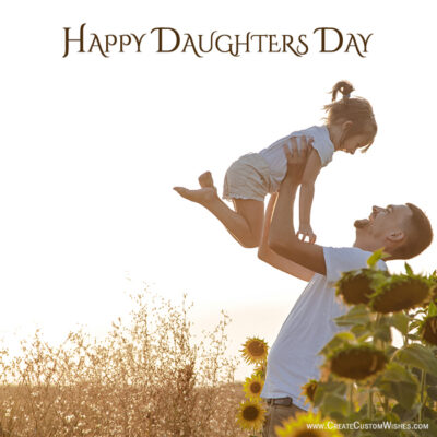 Write Name on Daughters Day Wishes Image