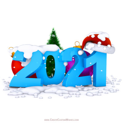 Write Text on Happy New Year Wishes Cards