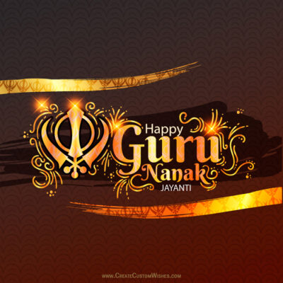 Add Name on Guru Nanak Jayanti Wishes Card