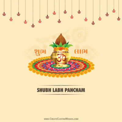 Add Name on Labh Pancham Wishes Image