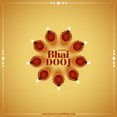 Create Bhai Dooj Wishes Image for Company